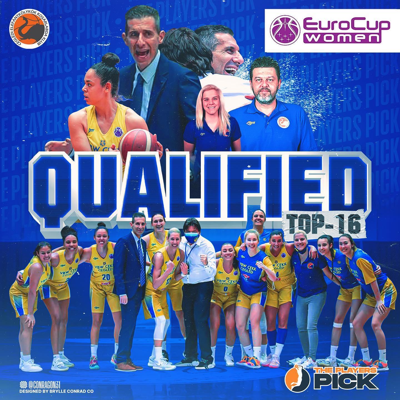 History made! Coach Keramidas led VBW CEKK Cegled to Eurocup Top-16!