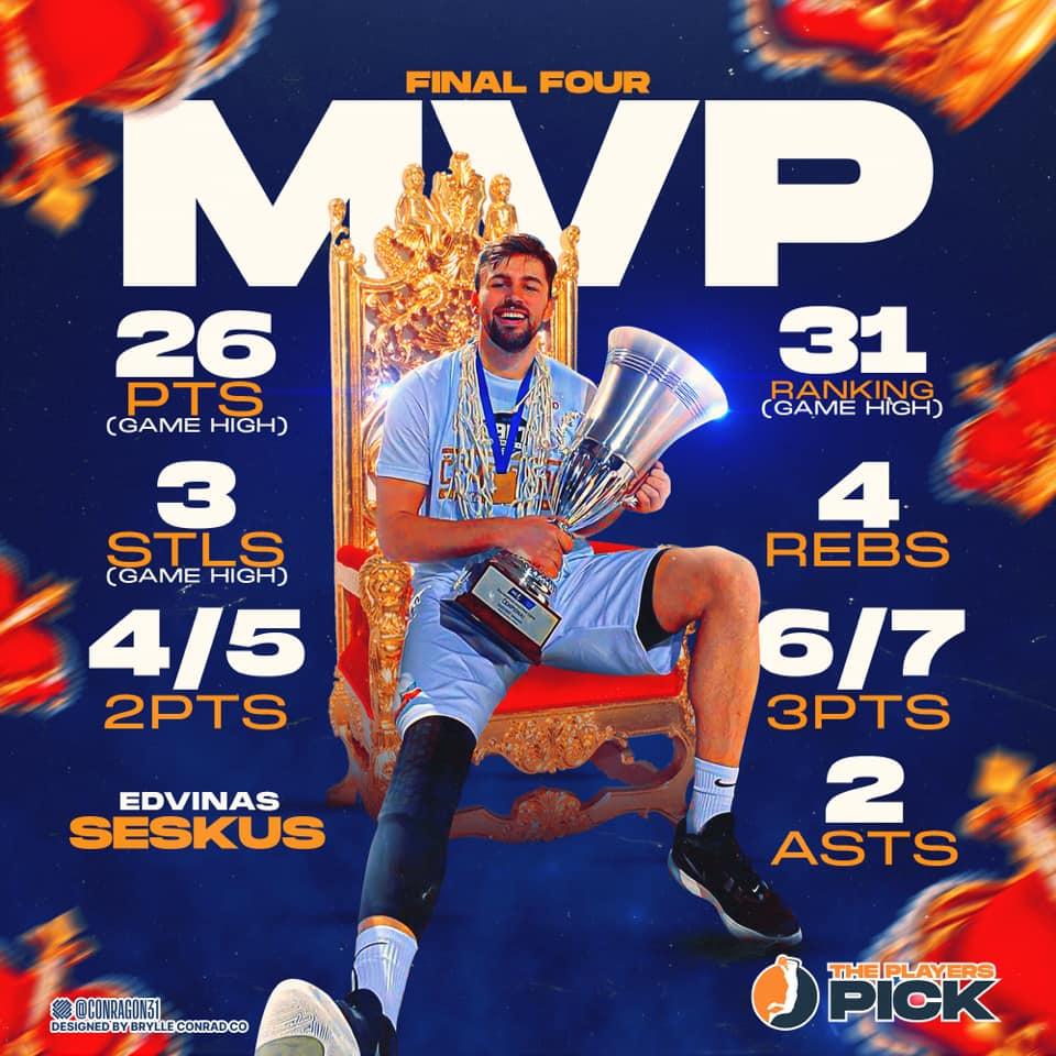 Business as usual for Edvinas Seskus! Champion & Final-4 MVP!