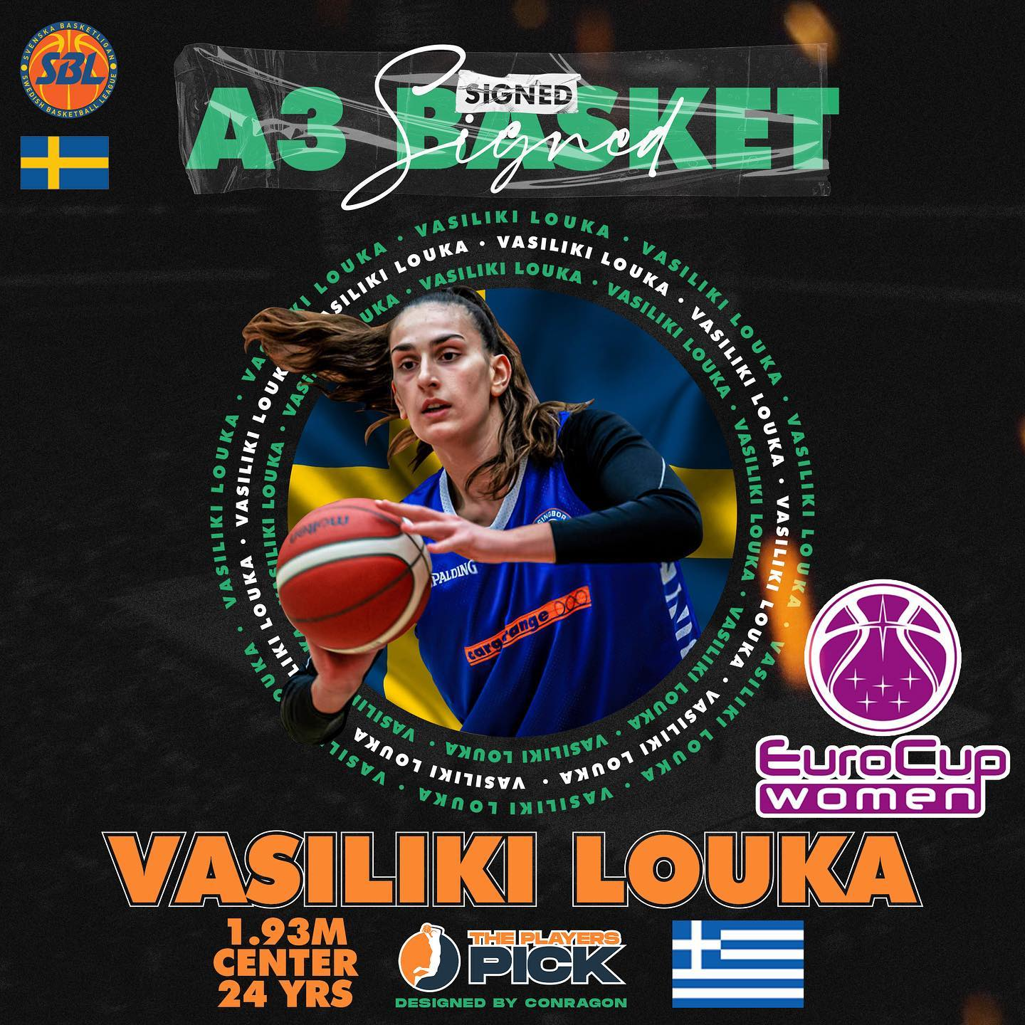 Vasiliki Louka signed with A3 Umea! Will compete in Eurocup & SBL!