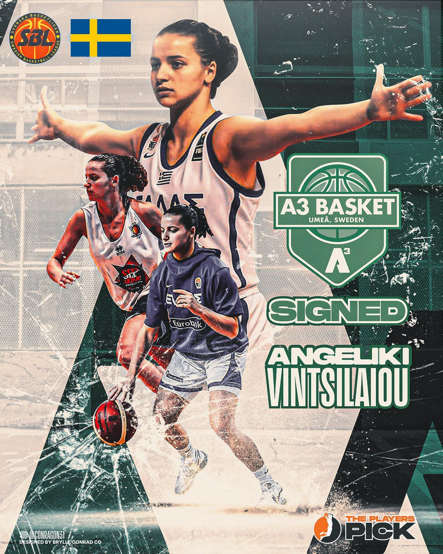 Angeliki Vintsilaiou signed with A3 Umea, Champs of Sweden, that covered the buyout of Giannena!