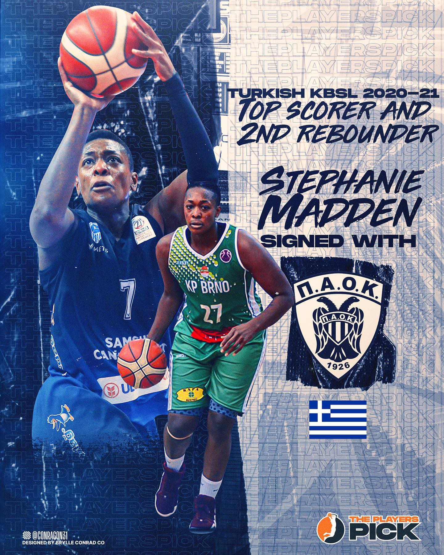 Stephanie Madden – Turkish KBSL Top Scorer signed with PAOK !