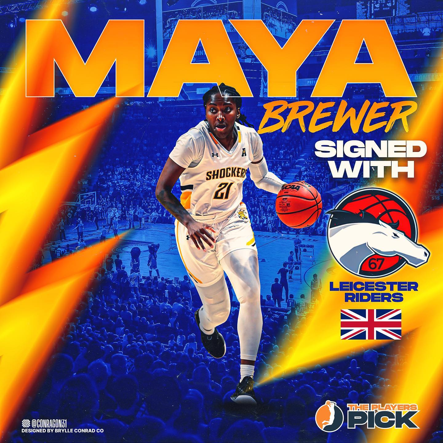 Maya Brewer signed with Leicester Riders in WBBL!