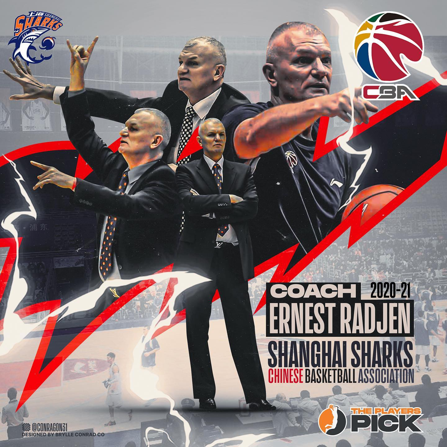 Coach Ernest Radjen joined Shanghai Sharks in CBA China!