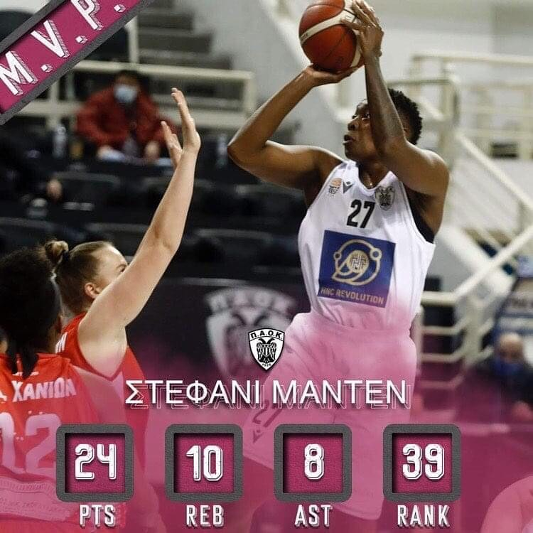 Stephanie Madden is The Player of the Week in Greece!