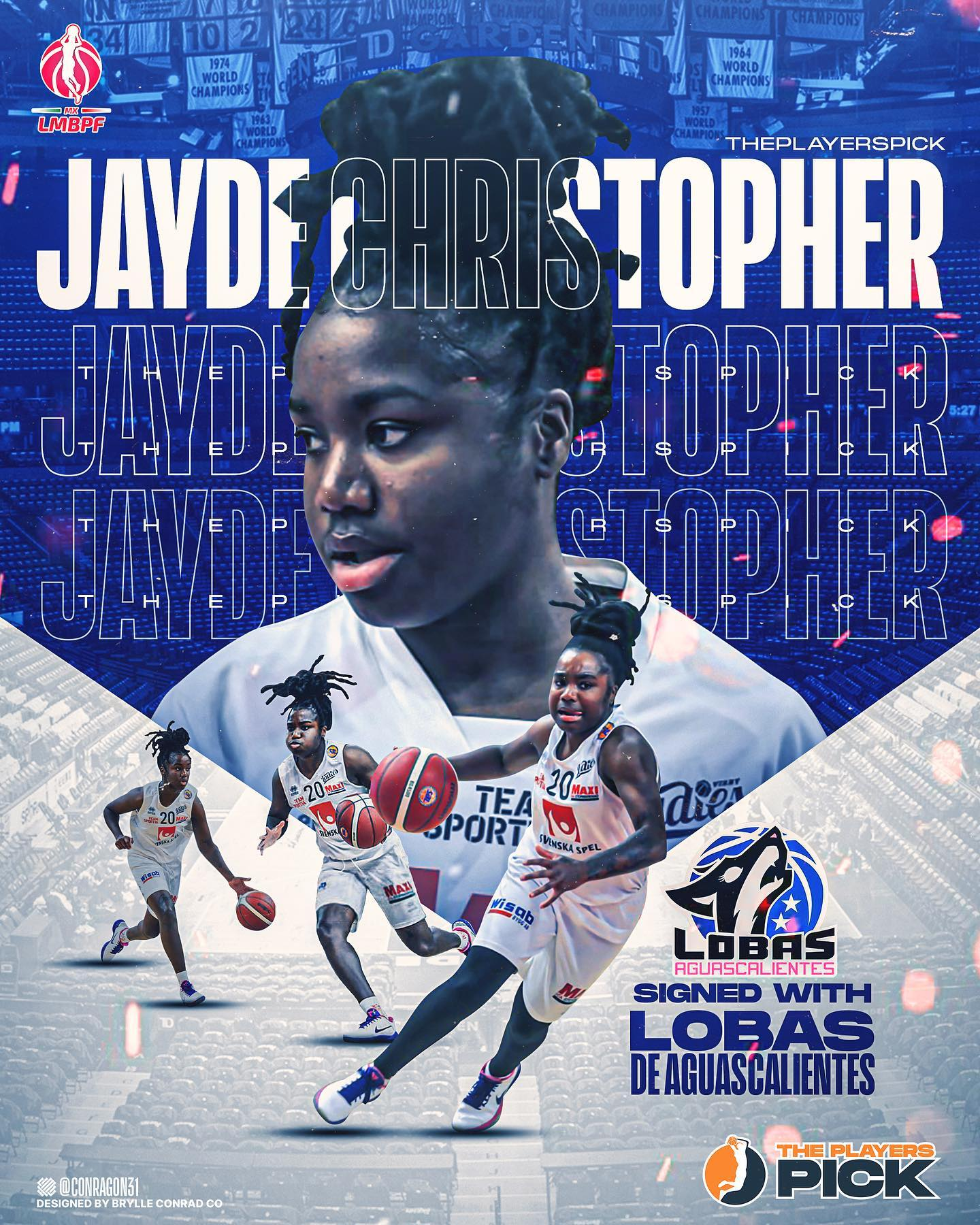 Jayde Christopher signed with Lobas!