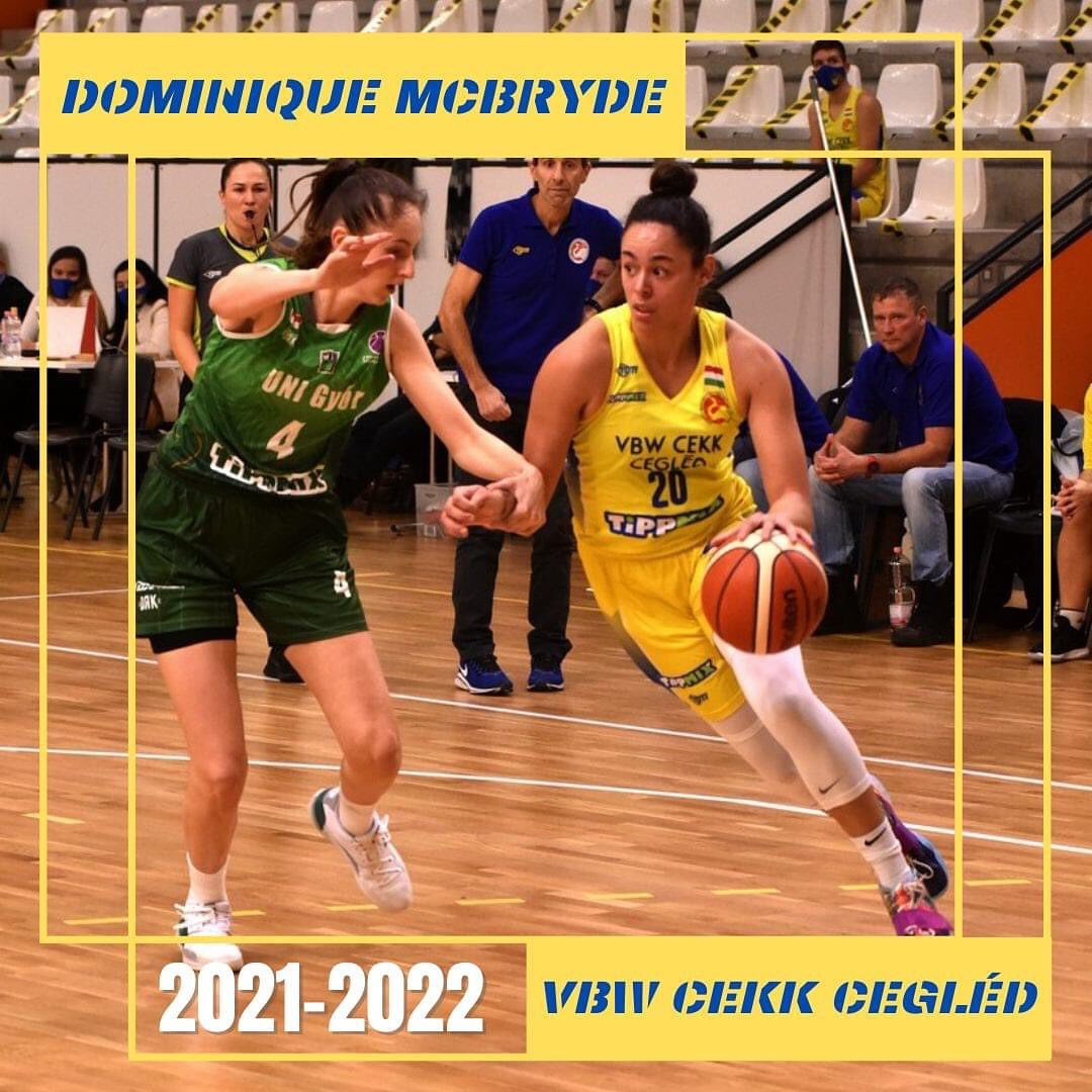 McBryde extended her contract with Eurocup Top-16 participants VBW CEKK Cegled from Hungary!