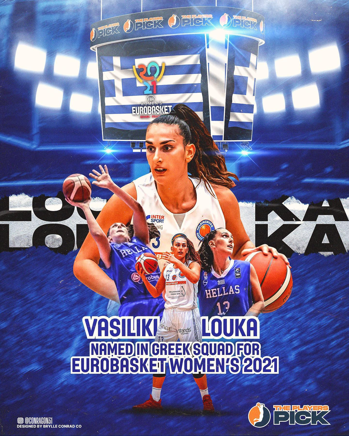 Vasiliki Louka named in Greek squad for Eurobasket 2021!